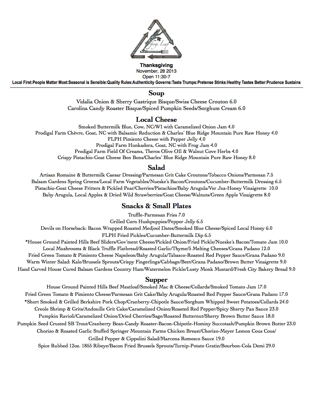 Thanksgiving 2013 Menu JPG